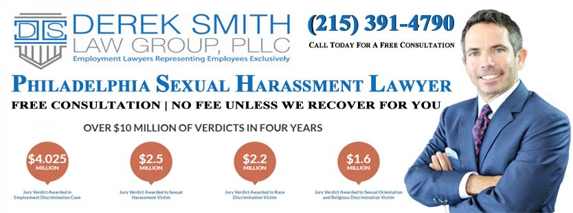 Philadelphia Sexual Harassment Lawyer | Philadelphia Sexual Harassment Attorney | Philadelphia Sexual Harassment Law Firm | Sexual Harassment Lawyer in Philadelphia | Sexual Harassment Attorney in Philadelphia | Sexual Harassment Law Firm in Philadelphia | Sexism | Derek Smith Law Group | Best Sexual Harassment attorneys in Philadelphia | lawyers for harassment | Philadelphia Hostile work environment lawyer | Philadelphia human rights lawyer