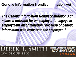 Genetic Information Nondiscrimination Act | New York City Employment Discrimination Attorneys