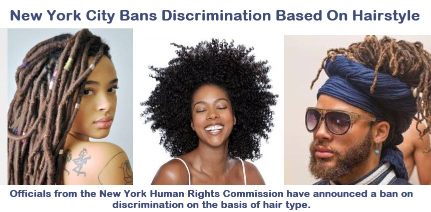 Race Discrimination Based on Hair is Illegal, workplace hairstyle discrimination, hairstyle discrimination lawyer New York City, New York City to Ban Discrimination Based on Hair, hair discrimination attorney New York City