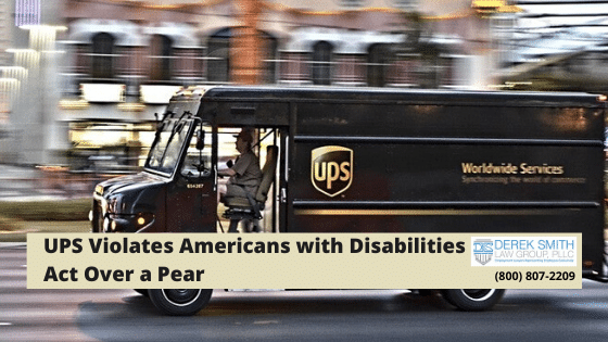 UPS Violates Americans with Disabilities Act Over a Pear | Americans with Disability Act, Wrongful termination, Disability Discrimination