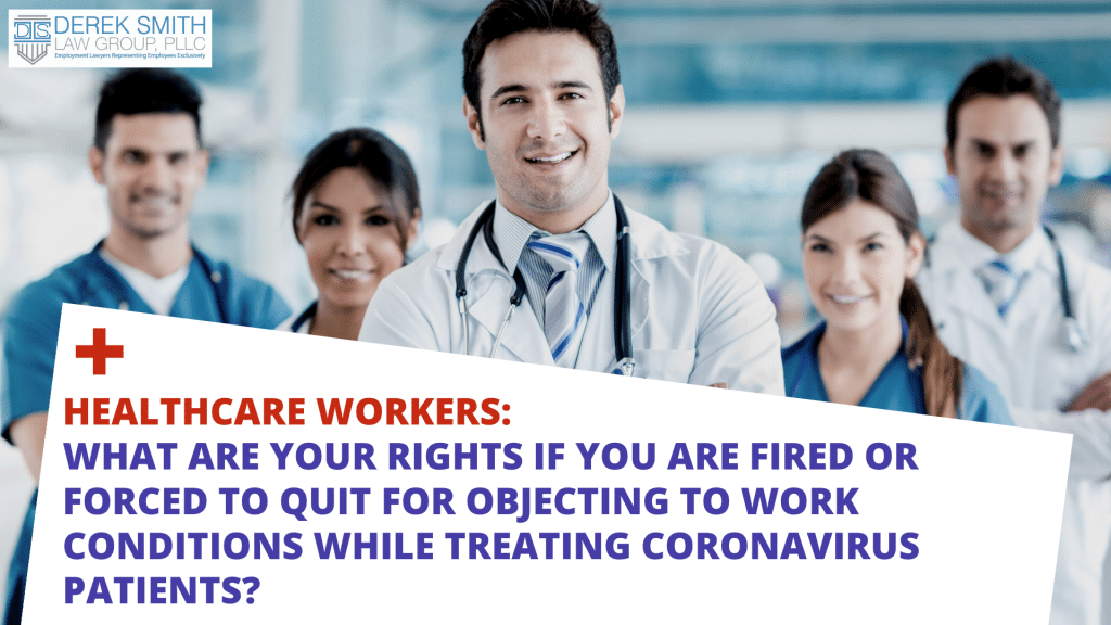 Are you a nurse, doctor, physician's assistant, or other healthcare professional or staff member that has been terminated or forced to quit because you complained about unsafe Coronavirus conditions? Covid-19, coronavirus