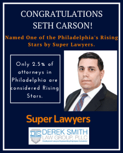 Seth Carson Named One of the Philadelphia's Rising Stars by Super Lawyers